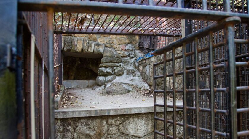 The old zoo in Griffith Park, which opened in 1912 and closed in the 1960s, still features some cages and is a popular site for filming.