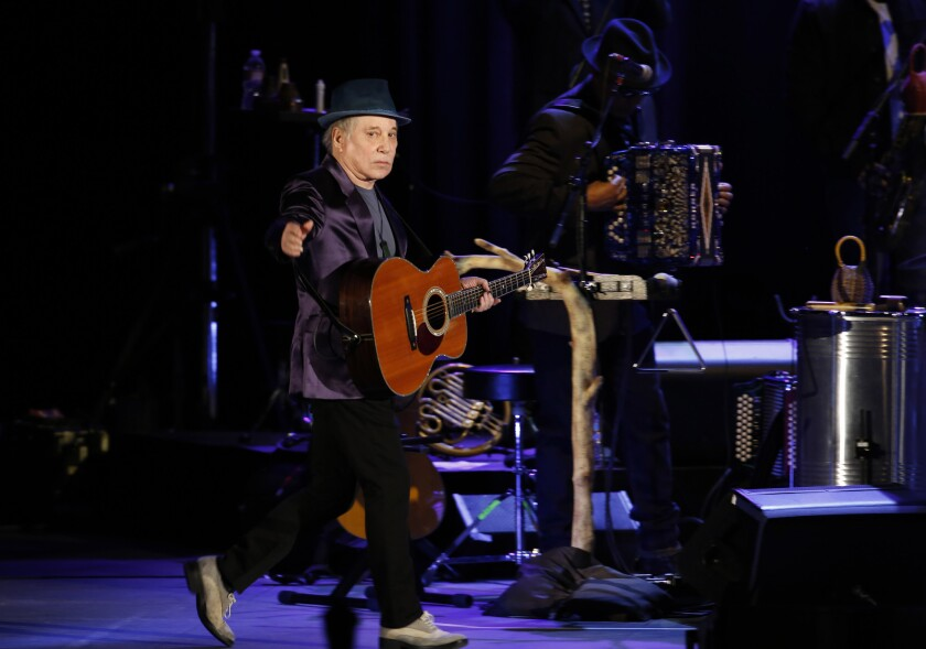 Paul Simon takes the stage at the Hollywood Bowl.