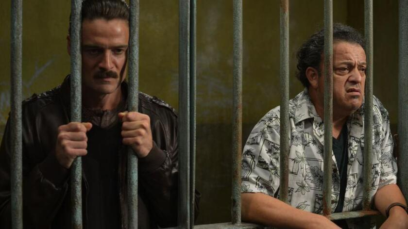 """Actors William Miller (left) and Paul Rodriguez in a scene from """"Ruta Madre,"""" written by San Diego native Joey Molina. The film will be shown during the San Diego Latino Film Festival. (Courtesy of """"Ruta Madre"""")"""