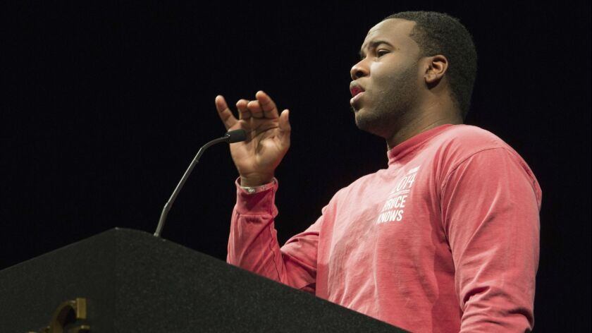 This March 24, 2014, photo provided by Harding University in Searcy, Ark., shows Botham Jean, speaki