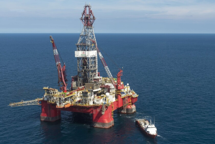 The Centenario exploration oil rig operated by Mexican company Grupo R and working for Mexico's state-owned oil company Pemex, in the Gulf of Mexico. State and federal bodies have quickly lined up behind constitutional changes that will allow foreign investment into what has been a 75-year-old state monopoly.