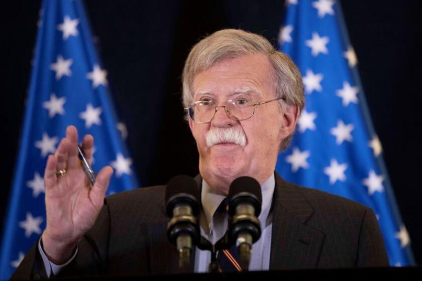 El asesor de Seguridad Nacional de la Casa Blanca, John Bolton. EFE/POOL/Archivo