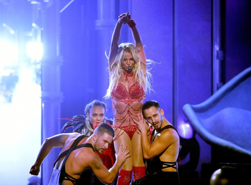 Britney Spears' performance served as a reminder that she has a Vegas show of her own.