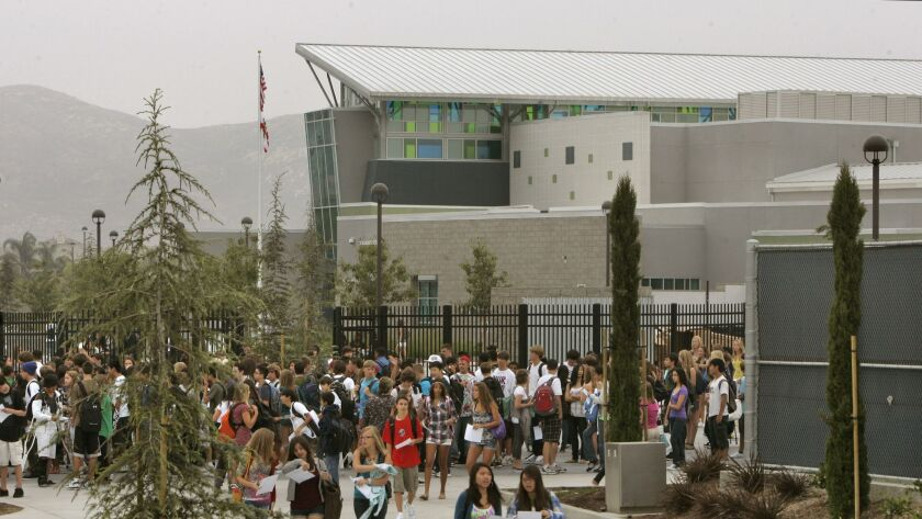 Del Norte High School, shown here at its opening in 2009, is one of four Poway campuses that will open with new principals this school year.