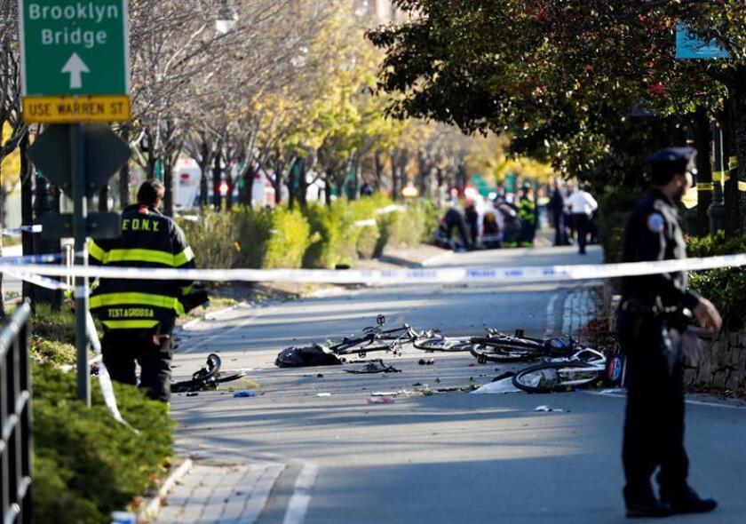 Cerca de cumplirse un año del atentado terrorista en Nueva York que costó la vida a ocho personas, entre ellas a cinco argentinos, el Gobierno estadounidense ha pedido la pena de muerte para su autor, el uzbeko Sayfullo Saipov. EFE/EPA/ARCHIVO