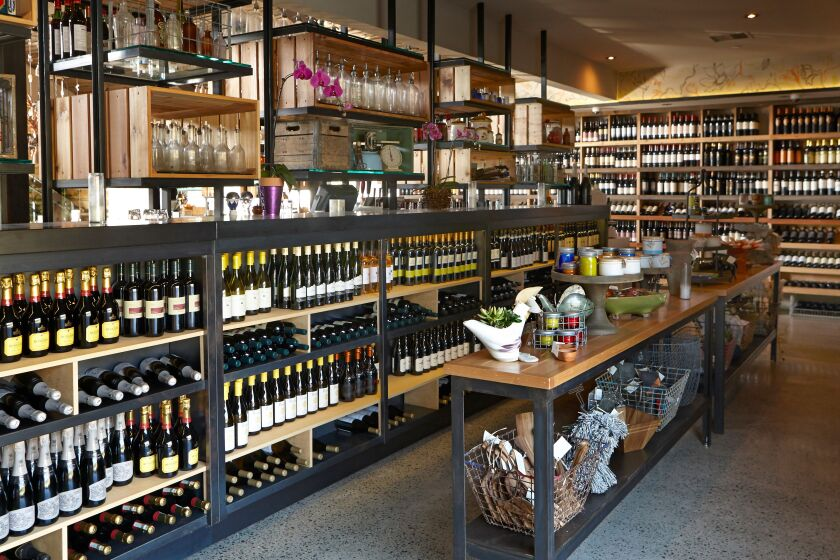 Cucina Enoteca's wine shop.