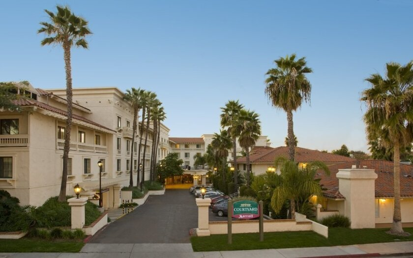 The 176-room Courtyard San Diego Old Town is one of three bank-owned hotels offered for sale by lender Mass Mutual.
