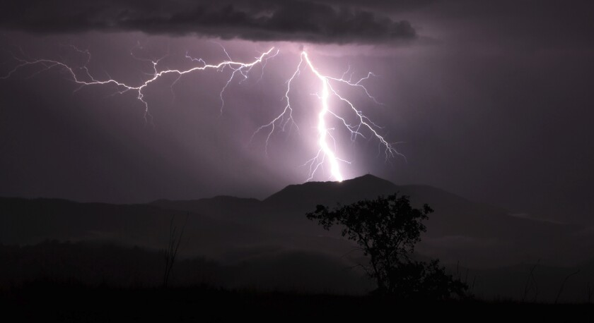 NWS says greater San Diego county be hit by lightning on Friday.