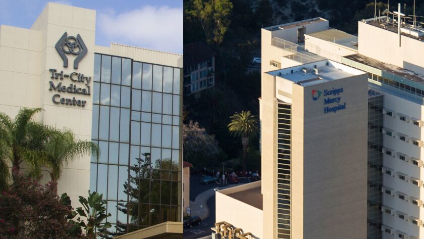 The state this week fined Tri-City Medical Center in Oceanside and Scripps Mercy Hospital in Hillcrest for preventable incidents that killed a patient and seriously harmed another.