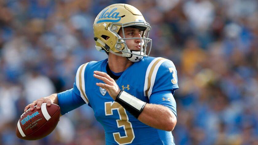 UCLA quarterback Josh Rosen's 3,515 passing yards leave him only 226 short of passing Brett Hundley for first place on the school's single-season list.