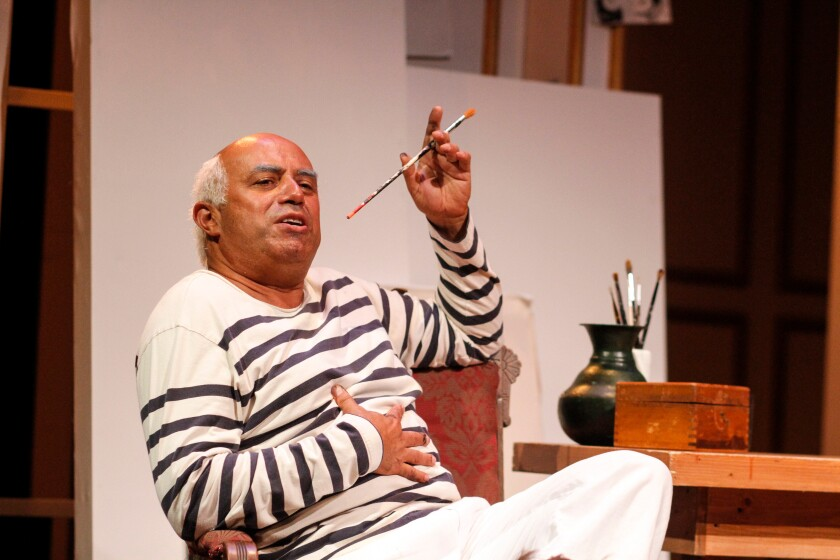 "Herbert Siguenza in his solo play ""A Weekend With Pablo Picasso."""