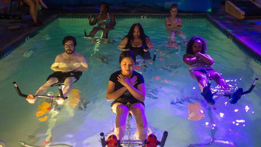 Aqua cycling: A fun, soothing underwater workout - Los Angeles Times