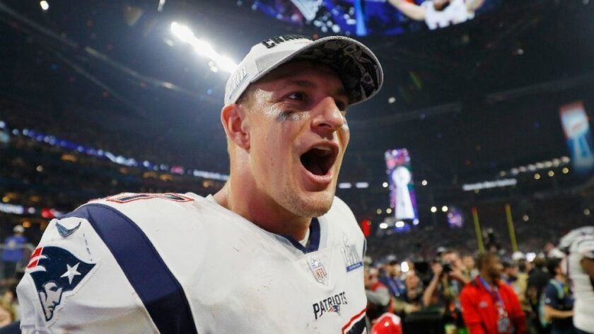 FILE - New England Pats Rob Gronkowski Announces Retirement Super Bowl LIII - New England Patriots v Los Angeles Rams