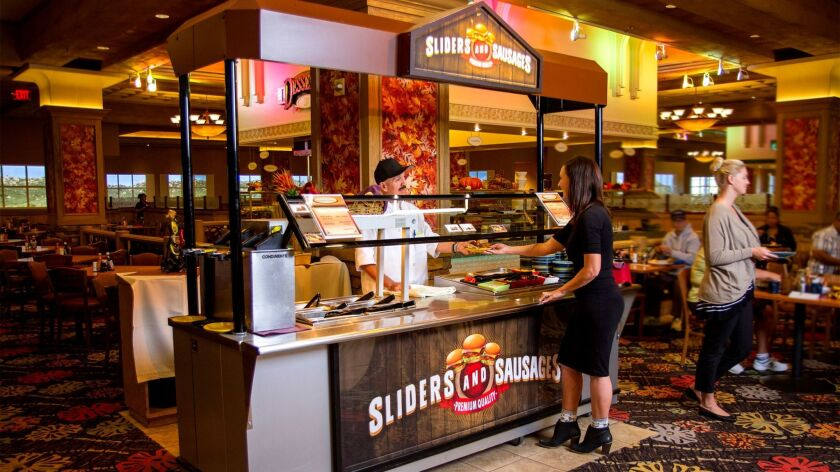 Custom slider sandwiches are among the offerings at Barona's Seasons Fresh Buffet.