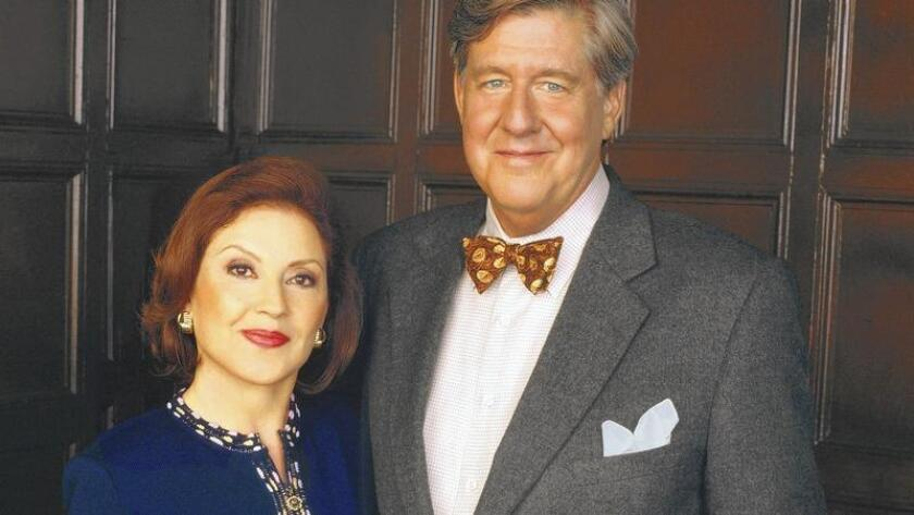 """Edward Herrmann and Kelly Bishop played Richard and Emily Gilmore on the popular television series """"Gilmore Girls."""""""