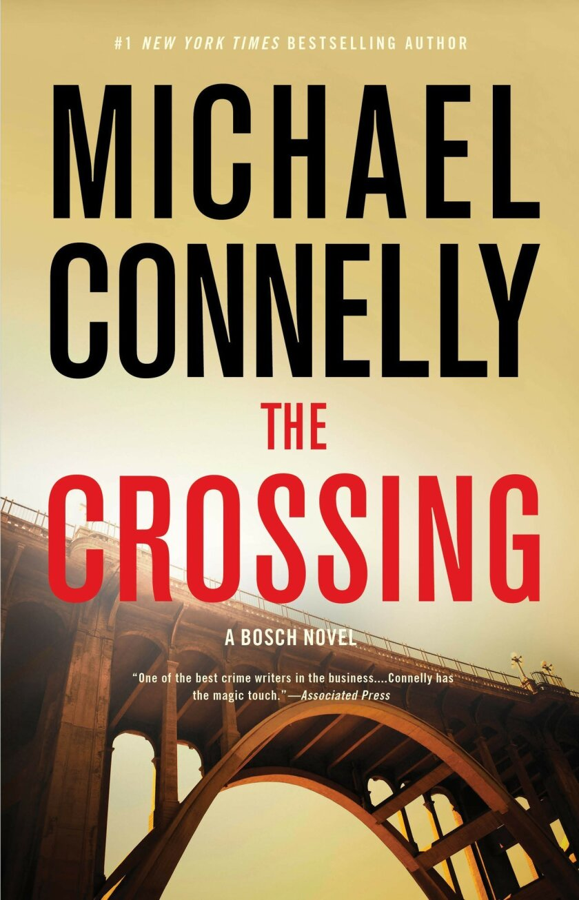 """This book cover image released by Little, Brown and Co. shows """"The Crossing,"""" by Michael Connelly. (Little, Brown and Co. via AP)"""