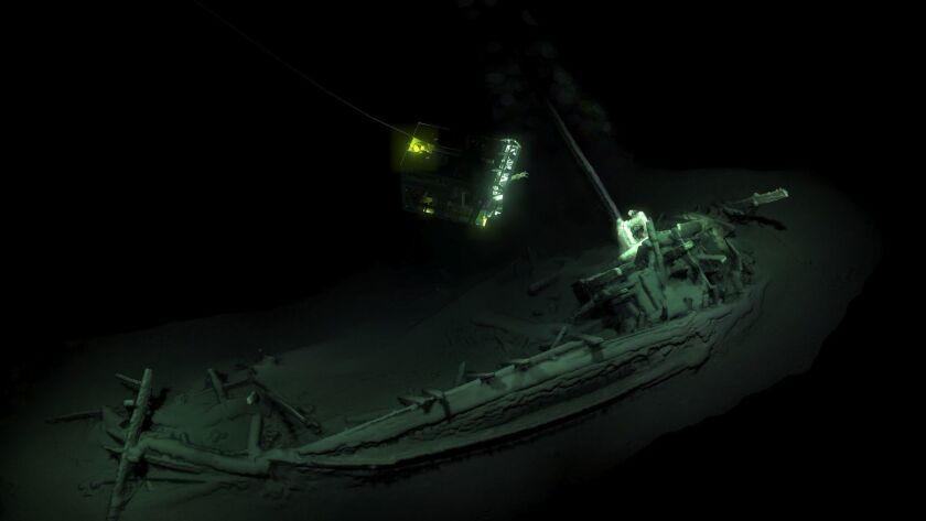 The remains of an ancient Greek trading ship lie at the bottom of the Black Sea near Bulgaria.
