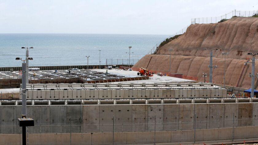 Construction is underway at the San Onofre Nuclear Generating Station for a storage site that will h