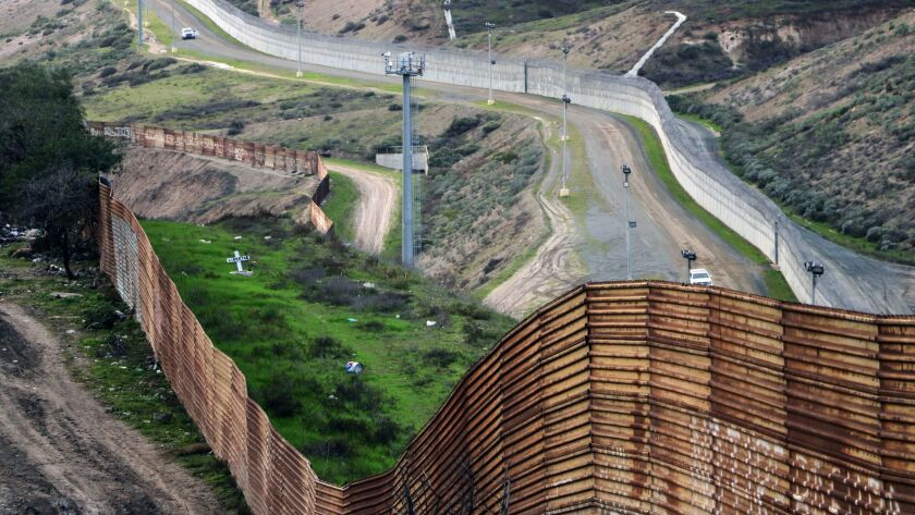 """A view of the grave sculpture """"Libertad"""" placed on the U.S. side of the border — but visible from both countries."""