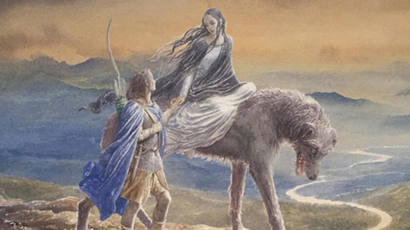 """From the cover of """"Beren and Luthien"""""""