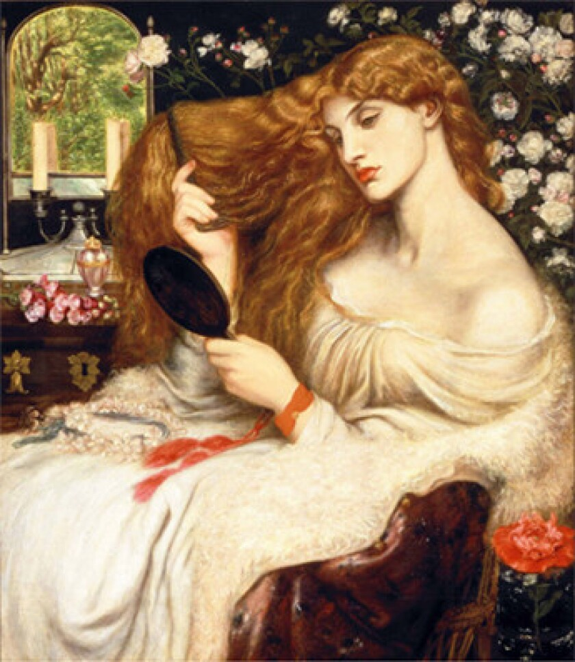 """Dante Gabriel Rosetti's """"Lady Lilith"""" is one of the prime holdings of the Delaware Art Museum, which says it must sell four as-yet unidentified artworks to raise $30 million and stave off closing. The Assn. of Art Museum Directors is criticizing the plan as a violation of museum ethics."""