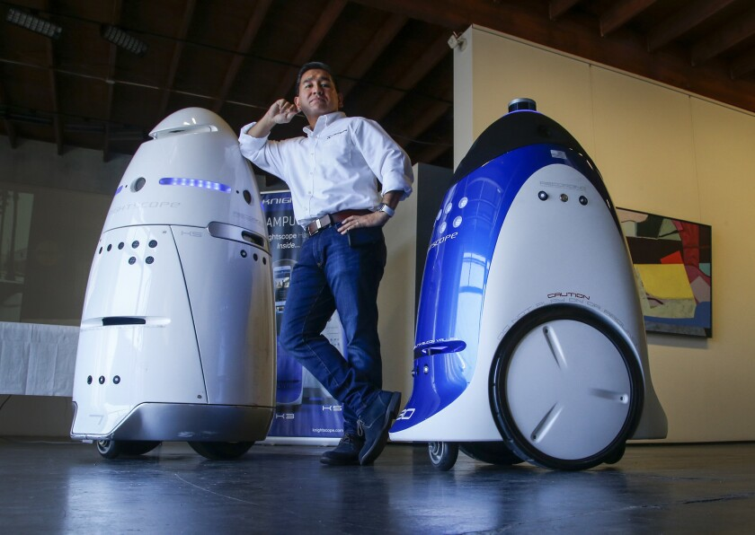 Robots are becoming security guards  'Once it gets arms