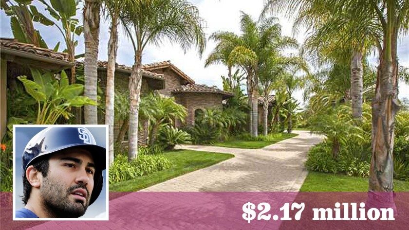 Facing an uncertain future in San Diego, Padres outfielder Carlos Quentin has sold his home in Poway.