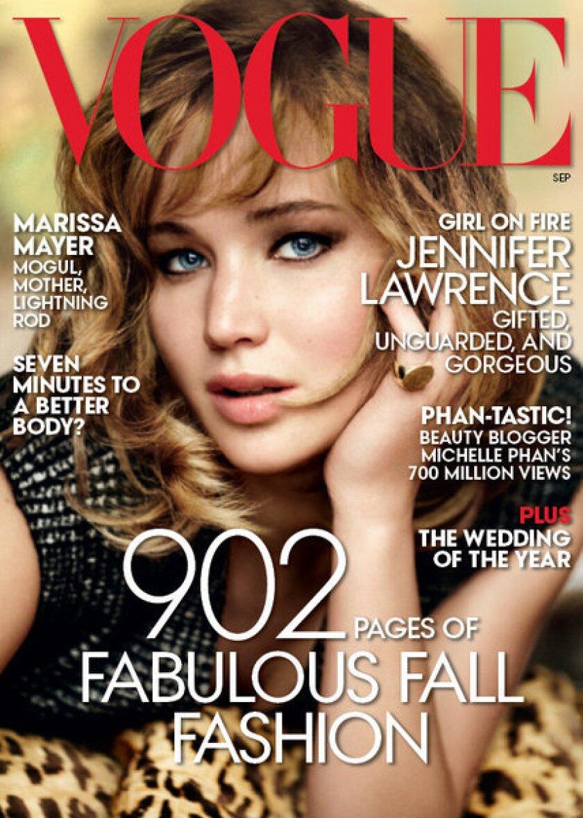 Jennifer Lawrence's Vogue September 2013 cover