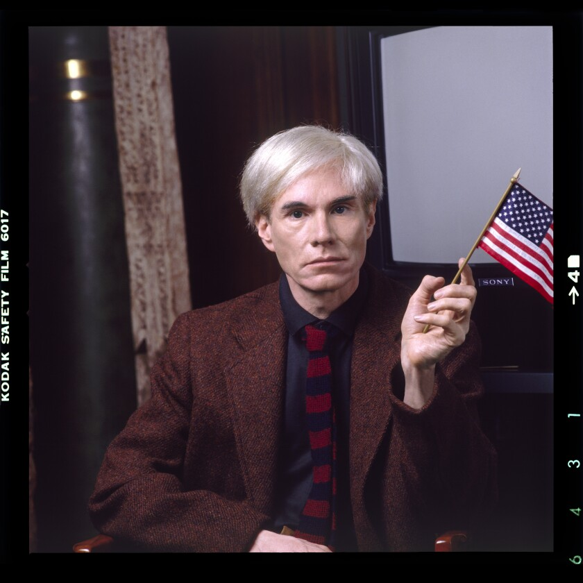 """Andy Warhol, in a photograph featured in Blake Gopnik's biography, """"Warhol."""""""