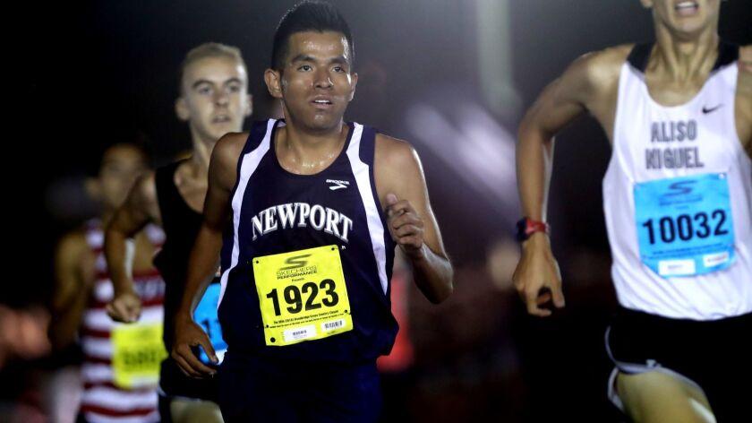 Newport Harbor High School cross country runner Alexis Garcia ran in the sweepstakes individuals rac