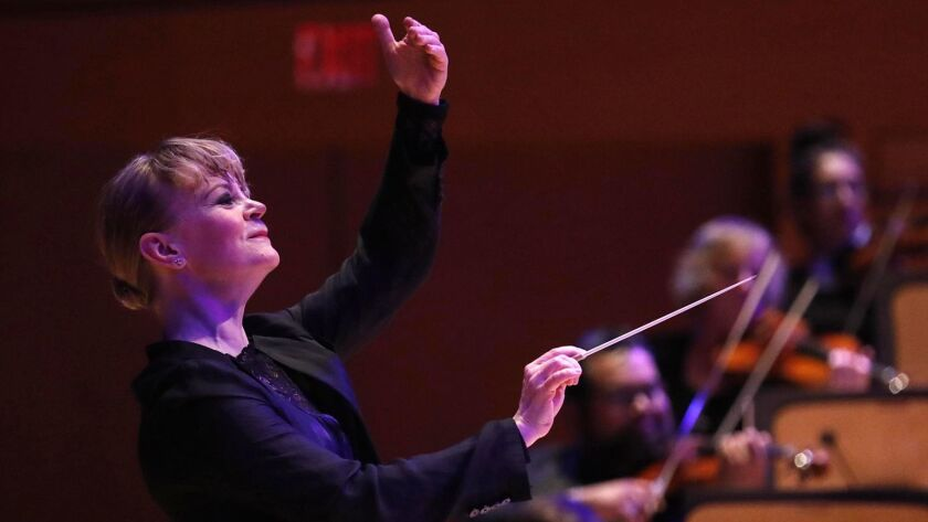 Los Angeles Philharmonic principal guest conductor Susanna Mälkki will lead the orchestra in Messiaen's Turangalîla Symphony in separate concerts at Walt Disney Concert Hall and Segerstrom Center.