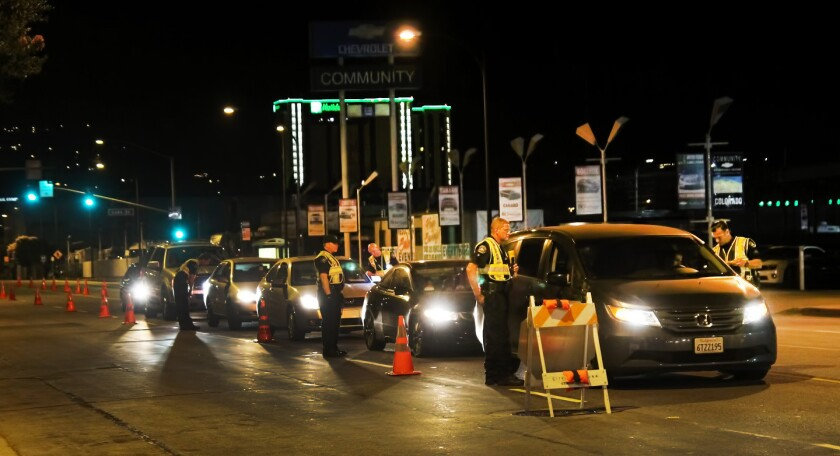 In Burbank, just one motorist arrested out of 926 at DUI checkpoint