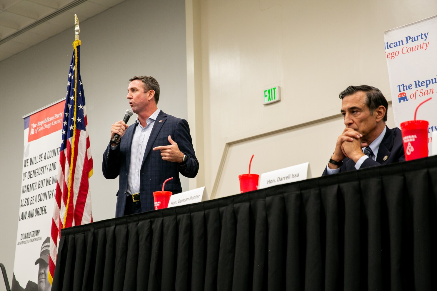 Rep. Duncan Hunter reports spending on campaign mail and legal defense, plus two bar visits and a dove hunt