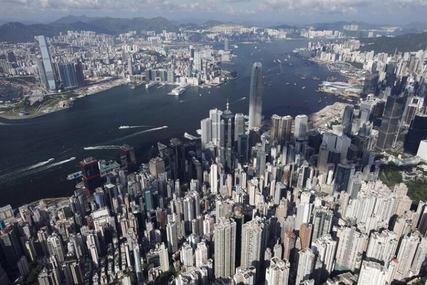 Vista aérea del distrito central de Hong Kong (China). EFE/Archivo