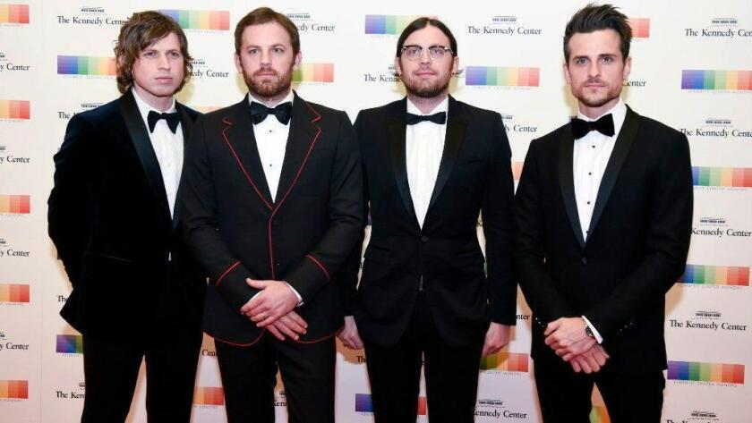 Kings of Leon will tour North America in 2017, starting at San Diego's Sleep Train Amphitheatre. (AP Photo/Kevin Wolf)