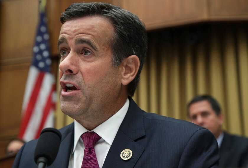 Rep. John Ratcliffe (R-Texas) was one of the fiercest questioners of former special counsel Robert S. Mueller III during congressional testimony last week.