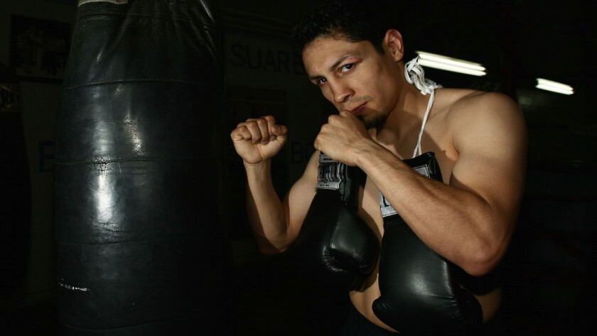 Israel Vázquez, ex campeón mundial de boxeo.