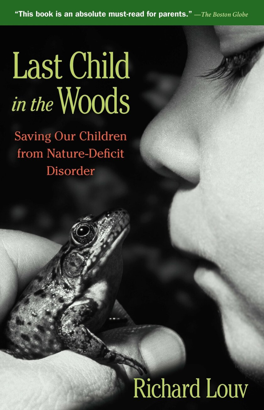 "cover of the book ""Last Child in the Woods"" by Richard Louv. It's to accompany an A-1 story about Louv, a San Diego resident, receiving the Audubon Medal."