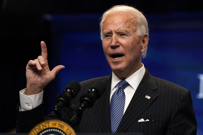 President Joe Biden earlier this month. On Wednesday he announced a new suite of climate-focused actions.