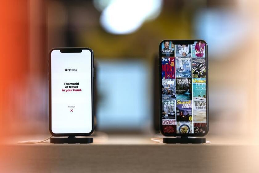 IPhones for sale at the newly refurbished Carnegie Library Apple Store in downtown Washington, DC, USA. EFE/EPA/Jim Lo Scalzo/File