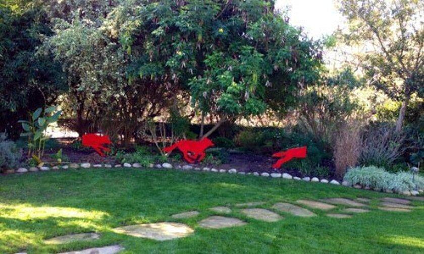 The Red Coyote by artist Sue Berkey