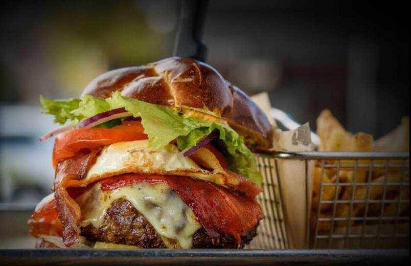 Make your own burger at Bootlegger.