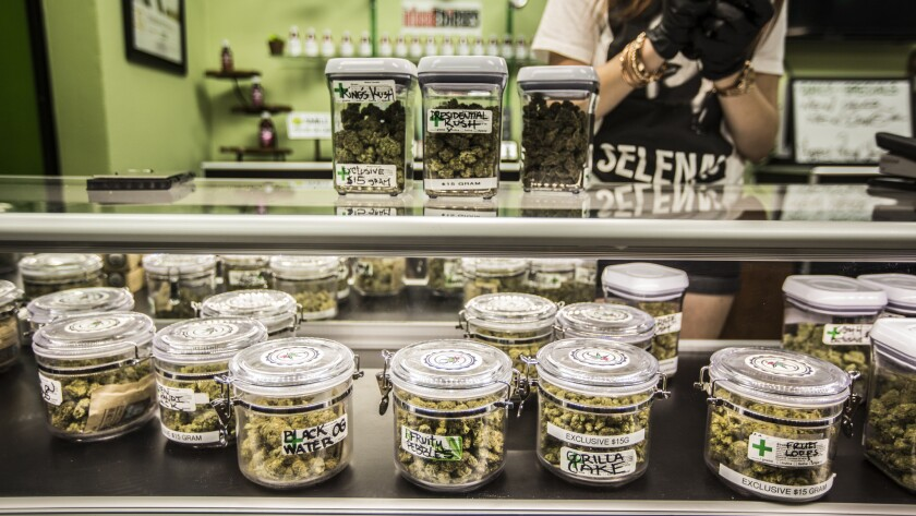 Cathedral City Collective Care in Riverside County got permission to begin selling pot at 12:01 a.m. on Jan. 1.