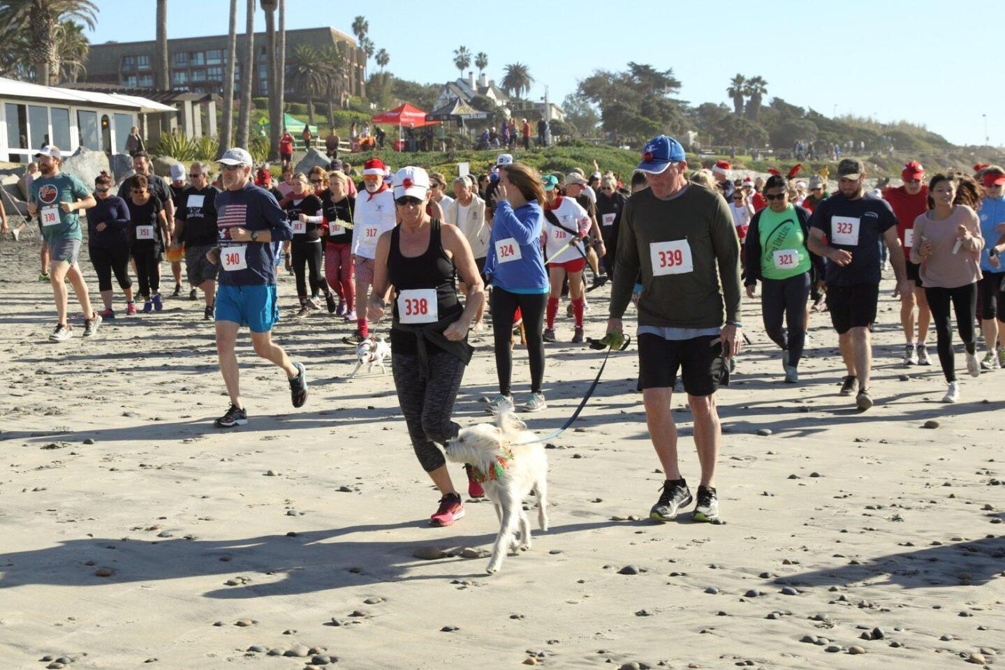 The Annual Red Nose Run at Del Mar Beach