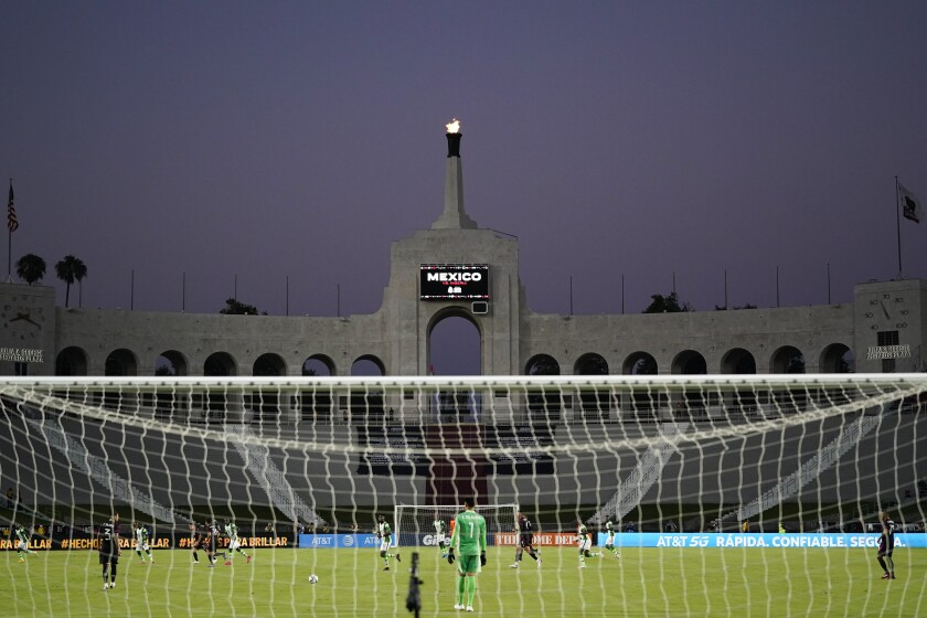 Mexico and Nigeria play at the Coliseum on July 3.