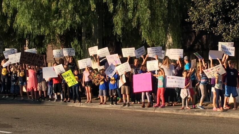 EUSD protest