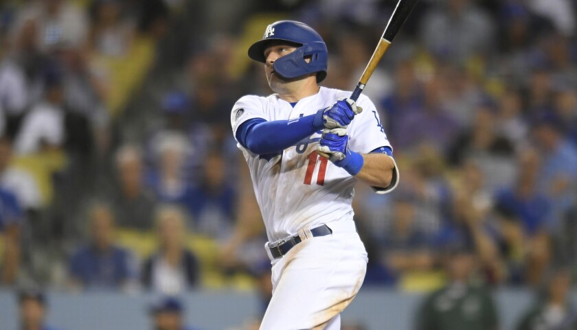 Dodgers outfielder A.J. Pollock homered in a 7-3 spring training loss to the Arizona Diamondbacks on Tuesday.