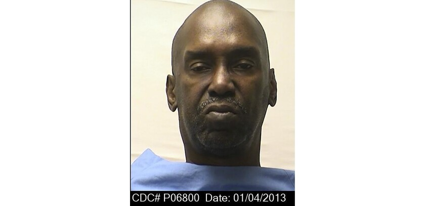 This Jan. 4, 2013 photo provided by the California Department of Corrections shows Thomas Potts, 71, a double murderer whose death sentence entered California's renewed debate over capital punishment died Wednesday, Feb. 5, 2020. Potts died at an outside hospital. His cause of death is awaiting an autopsy, but prison officials said foul play is not suspected. (California Department of Corrections via AP)