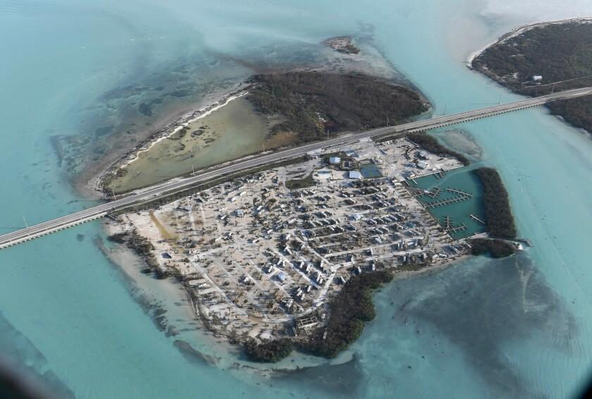 The Sunshine Key RV Resort Marina in the Florida Keys was decimated by Hurricane Irma.