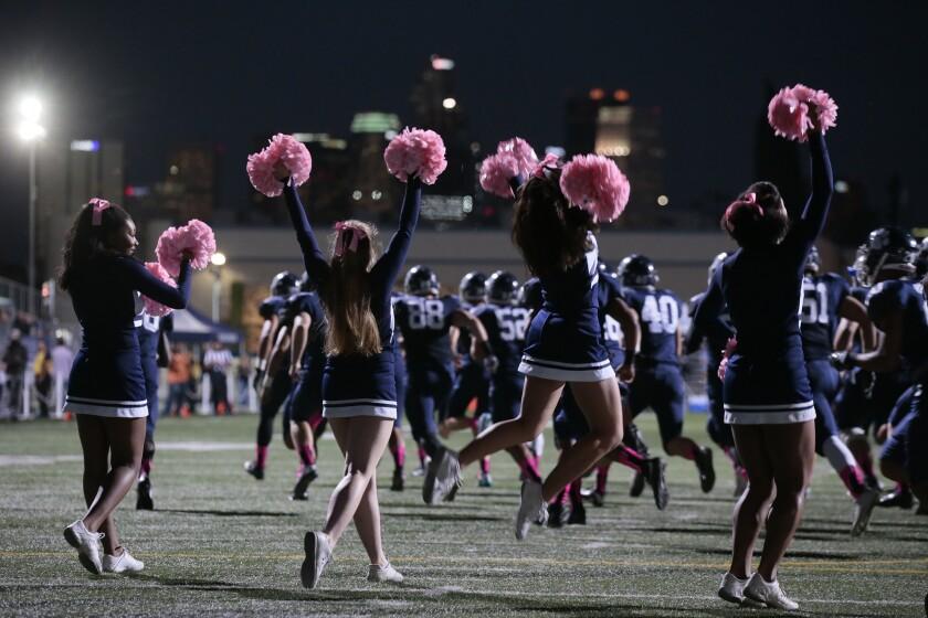 Loyola cheerleaders